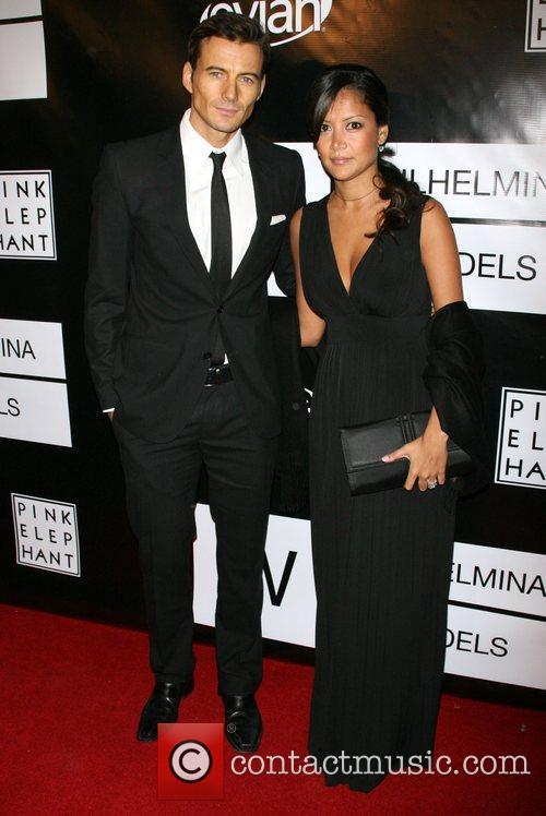 Alex Lundquist and Keytt Lundquist Wilhelmina models celebrate...