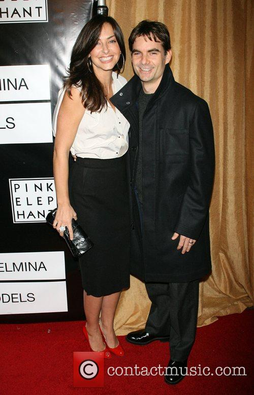 Ingrid Gordon and Jeff Gordon Wilhelmina models celebrate...