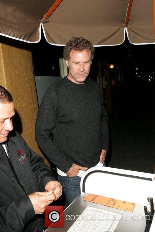 Will Ferrell Collects his car as he leaves...