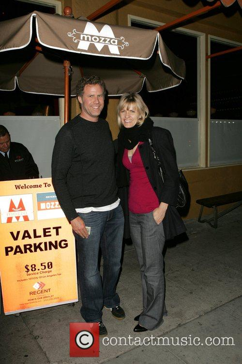 Will Ferrell and his wife Viveca Paulin leaving...