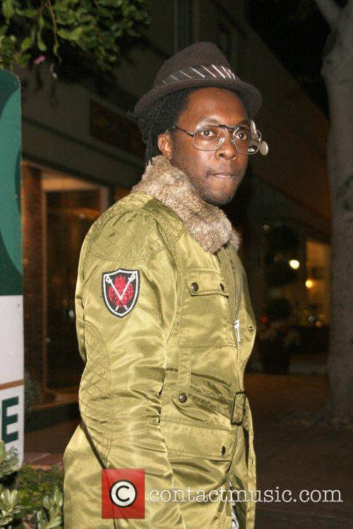 Will.i.am of The Black Eyed Peas leaving Area...