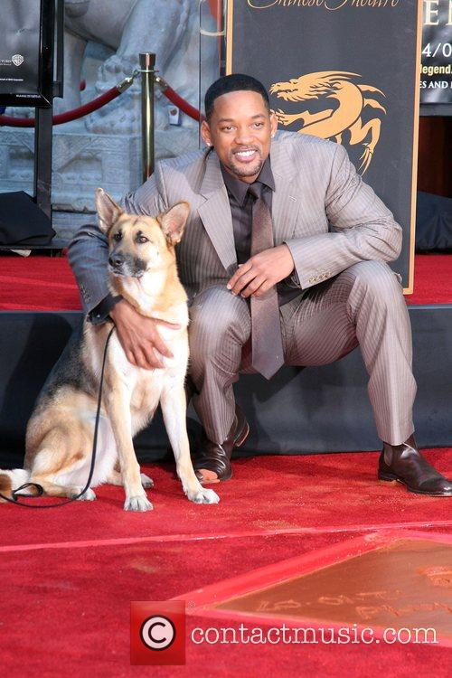 With The Dog Who Co-starred In 'i Am Legend' 1