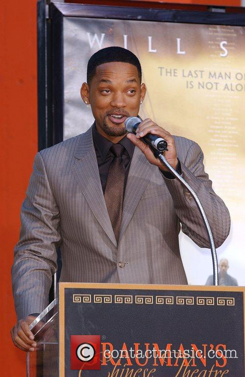 Will Smith Handprint and Footprint Ceremony at Grauman's...