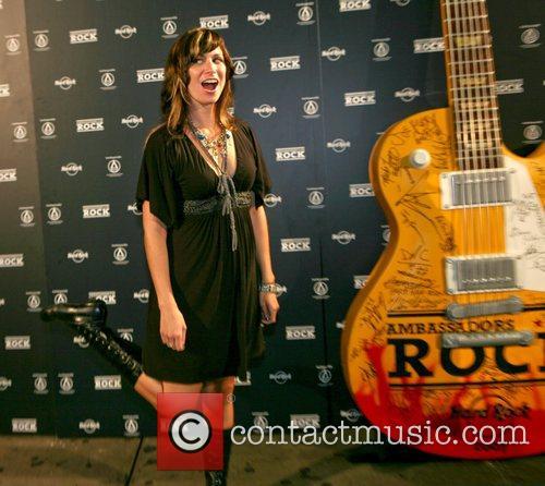 Nicole Atkins folk singer at the 'Hard Rock's...