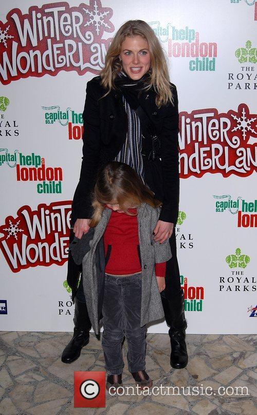 Donna Air and daughter Freya Aspinall Winter Wonderland...