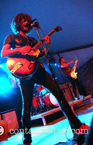 Andrew Stockdale of Wolfmother perfoming at Stubb's BBQ...