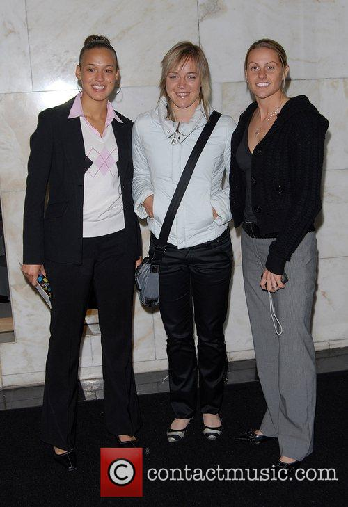 Kelly Smith, Arsenal and England footballer (right) and...