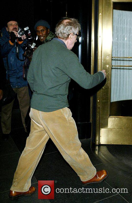 Woody Allen Arriving at the Carlyle hotel on...