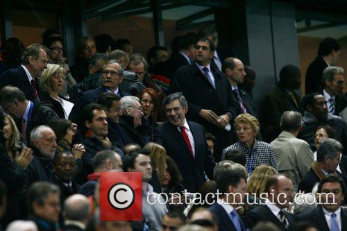 Gordon Brown at the Rugby World Cup final...
