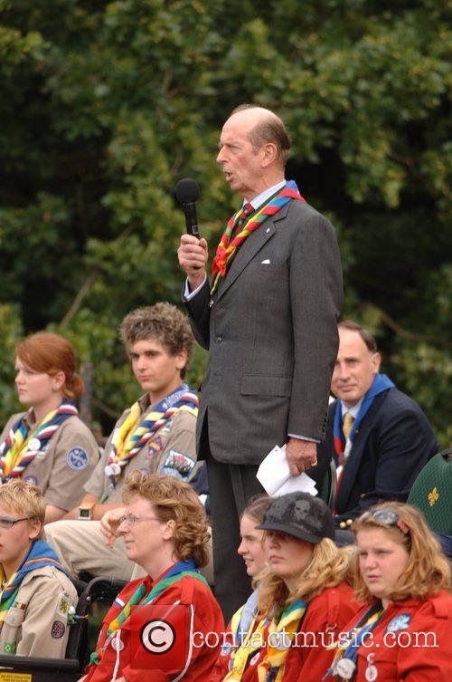 The Duke of Kent, President of the Scout...