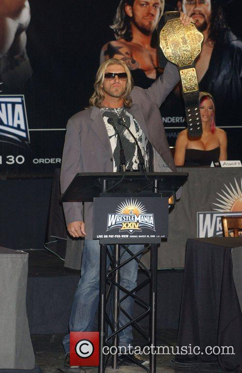 Edge Press conference at the Hard Rock Cafe...