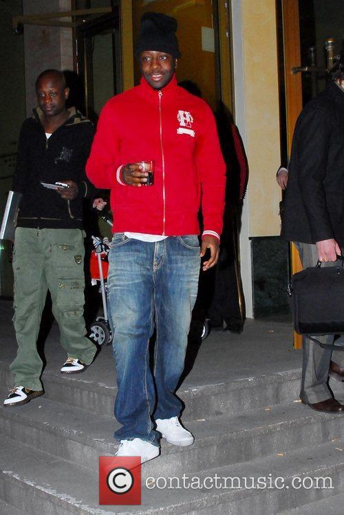 Wyclef Jean leaving Berlin's radio station KISS FM...