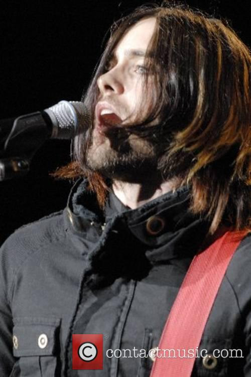 Jared Leto of 30 Seconds To Mars performing...