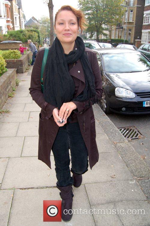 Niki Evans contestant leaving the X Factor house...