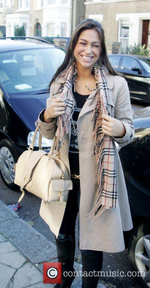 Raquelle Gracie leaving the X Factor house for...
