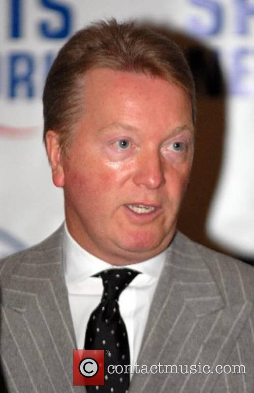 Frank Warren at a press conference for young...
