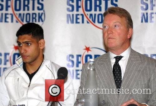 Amir Khan and Frank Warren at a press...