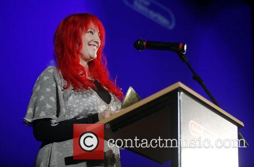 Jane Goldman  presenting an award at the...
