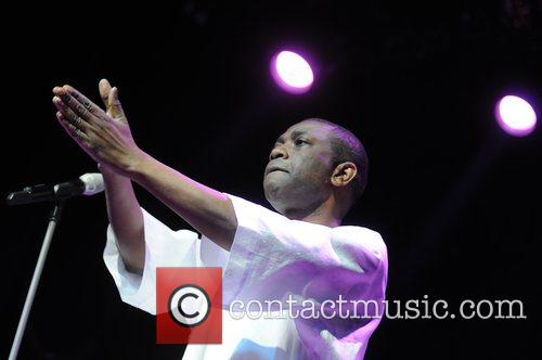 Youssou N'Dour  performing live at the O2...