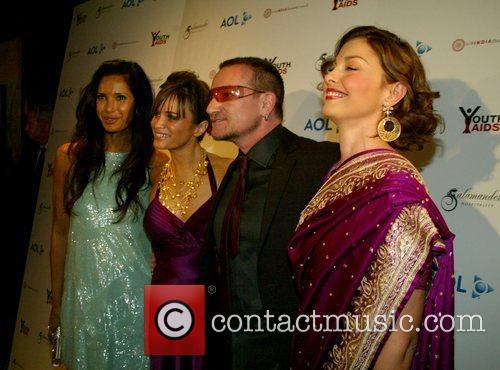 Padma Lakshmi, Kate Roberts, Bono, Ashley Judd at...
