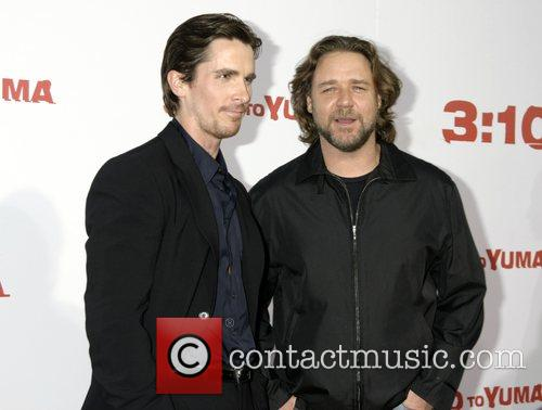 Christan Bale and Russell Crowe Premiere of '3:10...
