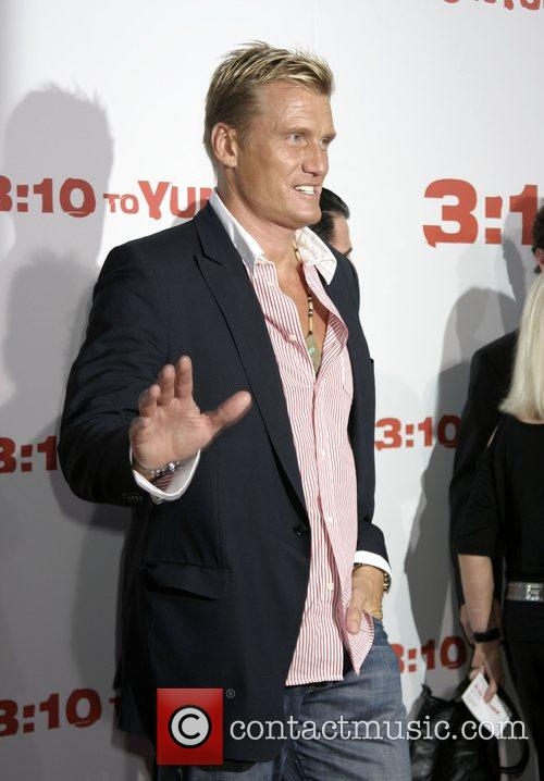 Dolph Lundgren Premiere of '3:10 to Yuma' held...