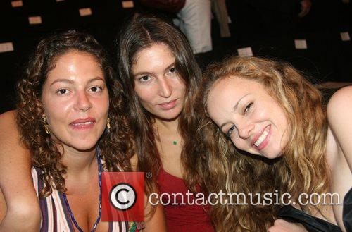 Stella Schnabel, Bijou Phillips and guest Mercedes-Benz Fashion...
