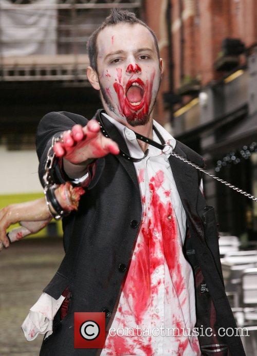 Zombie film fans Leeds Zombie film festiville held...