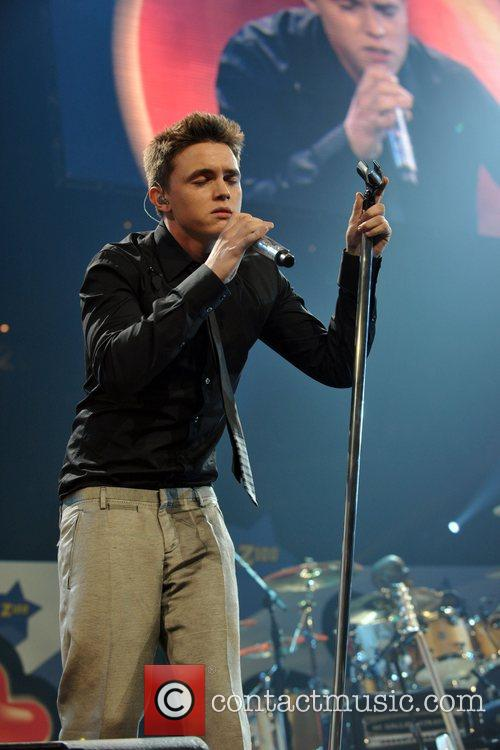 Jesse McCartney performs at Z100's Zootopia Concert IZOD...