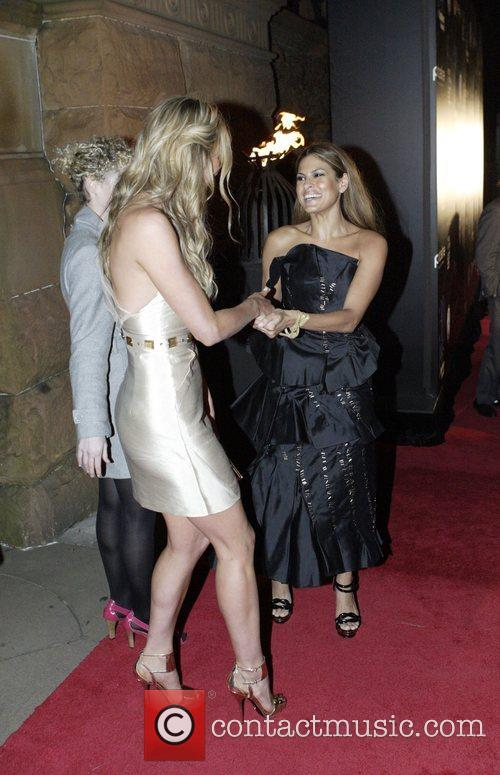 Jennifer Hawkins and Eva Mendes The launch of...