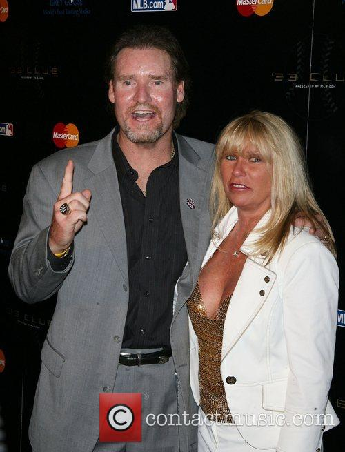 Wade Boggs with his wife 33 Club Party...