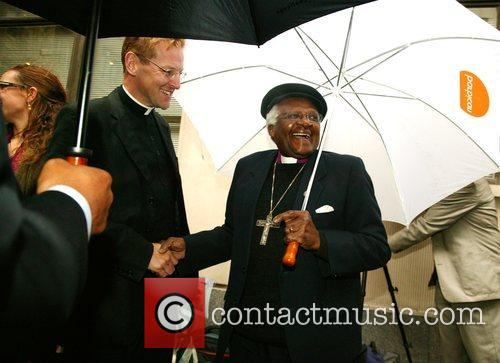 Archbishop Desmond Tutu  makes an appearance at...