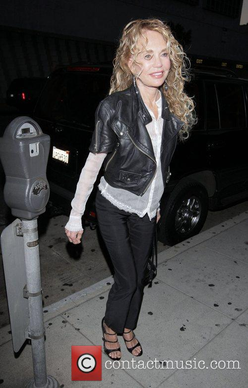 Dyan Cannon arriving at at Mr Chow restaurant...