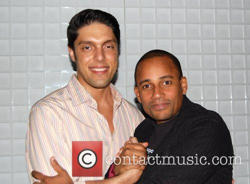 Mark Marek and actior Hill Harper at the...