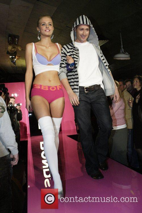 Model with Michael Clarke Bonds underwear launches its...