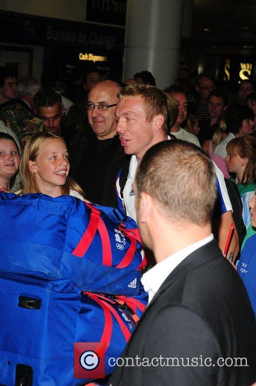 Scottish track cyclist Chris Hoy arrives at Manchester...