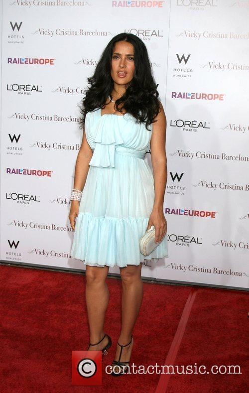 Salma Hayek arriving at the LA Premiere of...