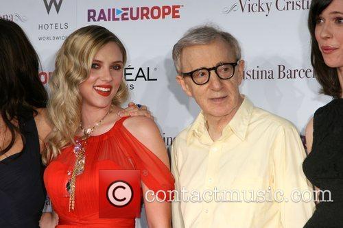 Scarlett Johansson & Woody Allen arriving at the...