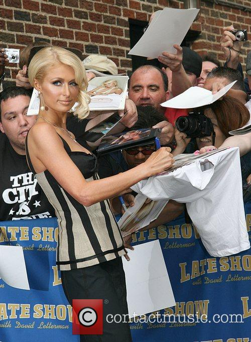 Paris Hilton and David Letterman 11