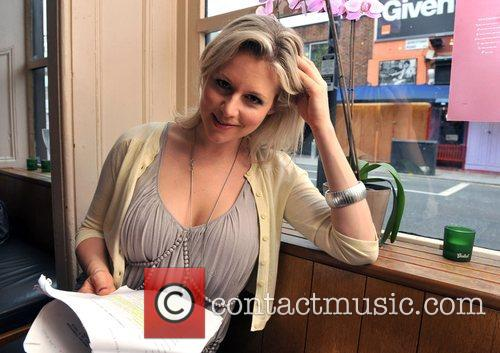 Abi Titmuss  reads the script for the...