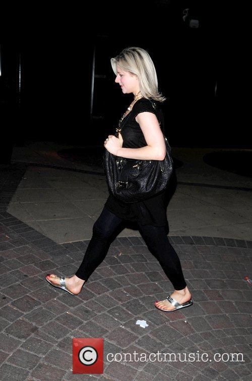 Abi Titmuss  goes out in Manchester City...