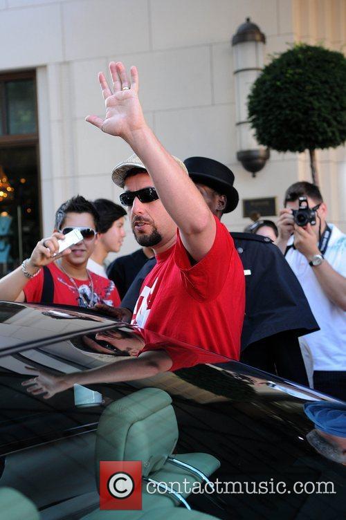 Adam Sandler  leaving Ritz Carlton Hotel Berlin,...