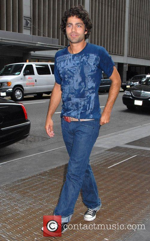 Adrian Grenier out and about in Midtown Manhattan...
