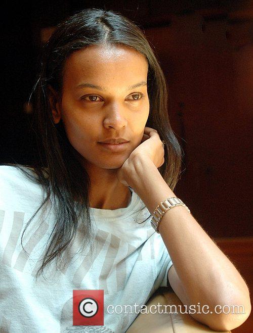 Model Liya Kebede poses during a portrait session...