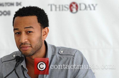 Singer John Legend  poses backstage at the...