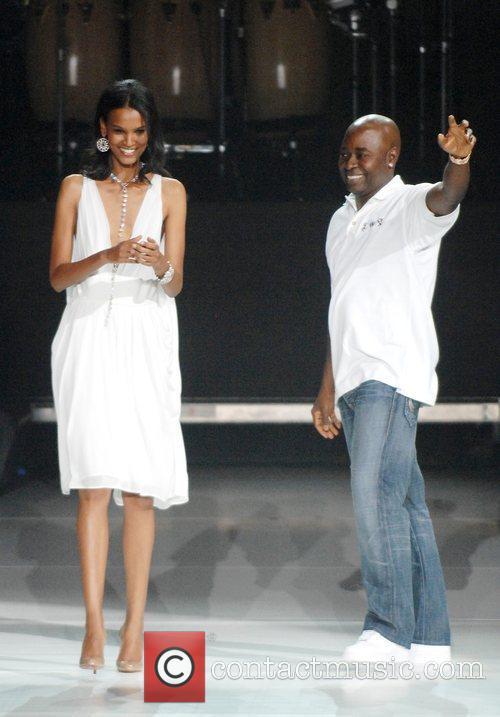 Desinger Chris Aire and model Liya Kebede The...