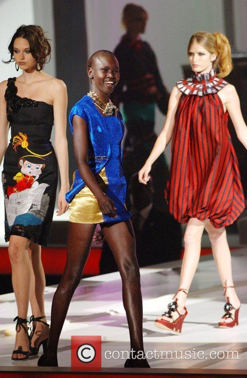 Model Alek Wek The THISDAY Africa Rising Concert...
