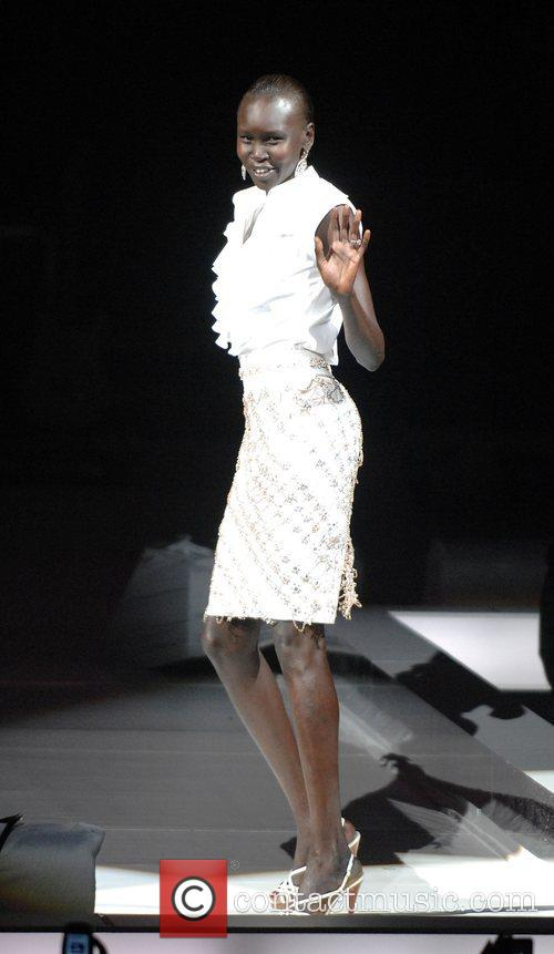 Tyson Beckford modelling at the Chirs Aire fashion...