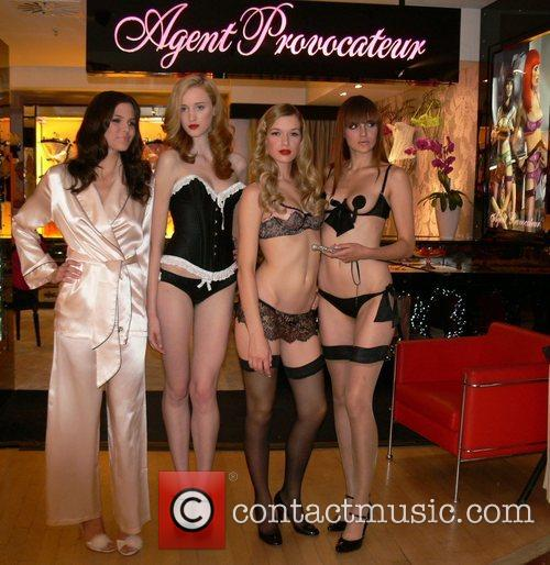 Agent Provocateur Fashion Show at Galeries Lafayette department...