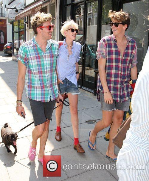 English supermodel Agyness Deyn and Henry Holland enjoy...